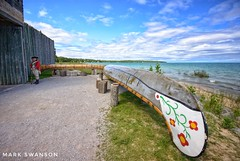 Colonial Michilamackinac (mswan777) Tags: fort michilamackinac mackinaw city mackinac straits michigan outdoor nature seascape landscape travel scenic soldier history military canoe nikon d5100 sigma 1020mm