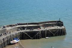 DSC01313 (rowchester) Tags: clovelly devon pier boat water sea ladder stair wall sand beach rope