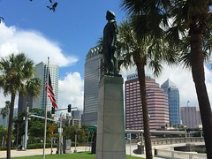 Columbus and the Tampa skyline (st_asaph) Tags: hillsborough statue columbus tampa