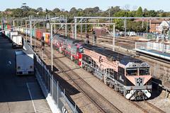 2017-07-20 SRS CF4412-PHC002-PHC001 Flemington Markets 4190 (deanoj305) Tags: cfcla srs sydney rail services cf4412 phc002 phc001 4190 intermodal container train black caviar flemington markets nsw freight locomotive