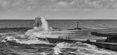 Seaham Pier. (Morty1884) Tags: seaham piers canon sea seascape storms waves lighthouse northeast 6d uk