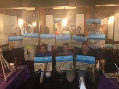 Showing off completed paintings (Michael Mahler) Tags: bisexual erie eriecounty eriecountypa eriepa gay lgbt lgbtqia lesbian nwpapridealliance painting paintingwithpride pennsylvania pride transgender zonedanceclub
