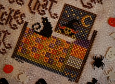 "Witchy Remedy (GATACA1952) Tags: ""crossstitch"" embroidery floss threads decoration texture craft handmade halloween spooky autumn fall holidays ""allhallow'seve"" hallowe'en witch thegentleart cat"