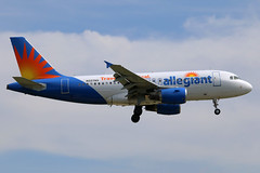N327NV allegiant A319-111 at KCLE (GeorgeM757) Tags: allegiant a319111 rpc3189 canon aircraft alltypesoftransport aviation airbus kcle georgem757 landing