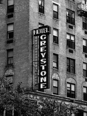 Greystone Hotel (Will.Mak) Tags: building nyc monochrome black white blackandwhite architecture hotel greystone greystonehotel