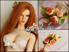 "Цветочный венок ""Akande"" (shelenessa) Tags: handmade flowers wreath bjdjewelry foam jewelry accessories"