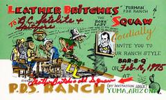 The Viking: Leather Britches & Squaw - Yuma, Arizona (73sand88s by Cardboard America) Tags: theviking qsl qslcard cb cbradio vintage arizona cowboy