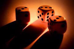 nine for three (camerito) Tags: macromondays three 3 dices würfel