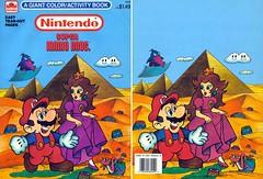 Super Mario Bros. Coloring Book (Hobbycorner) Tags: mario luigi 1989 coloring activity book golden goldenbooks nes nintendo supermario supermariobros2 hobby peach princess princesspeach toad wart mouser crayola crayons crayon