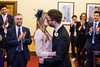Nick and Elsa's wedding (Gary Kinsman) Tags: london islington upperstreet n1 2017 islingtontownhall canon5dmkii canoneos5dmarkii canon50mmf14 availablelight ambientlight candid unposed wedding couple marriage kiss islingtonassemblyhall people person