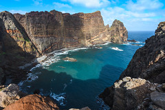 Narrow bay (Rico the noob) Tags: dof landscape nature d500 outdoor madeira stones sea 1120mm ocean travel published beach clouds sky water 2017 coast cliff 1120mmf28