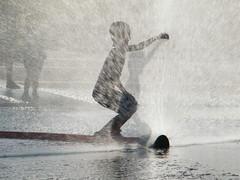 A shadow (Aga Dzięcioł) Tags: child kid boy childhood summer freedom joy heat heatwave water cool carefree barefoot play enjoy białystok poland shower bath citycentre urban urbanlandscape city bigcity