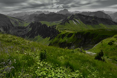 above the mountains (gmeinerverena) Tags: mountains view austria landscape nature cloudy clouds green favorite hiking sunday