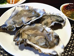 Fresh oysters (NuCastiel) Tags: pescatarian meal dish photo mobile iphone yummy yum taste salt salty tender soft edible eatable eatery eat sunday sundaybrunch brunch lunch buffet hotel bangkok bkk thailand thai pearl milk white shell seafood sea fresh oysters oyster delicious food