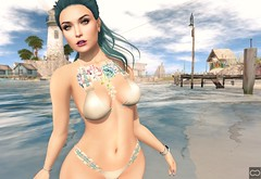 Beautiful Day (Cryssie Carver) Tags: secondlife second life sl avatar luxebox luxe box collabor88 limit8 cosmopolitan blueberry chocolateatelier chocolate atelier moon ama anlarposes an lar poses izzies bajanorte baja norte maitreya league catwa suicidalunborn unborn suicidal