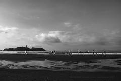 SUMMER TIME (higehiro) Tags: summer japan island enoshimaisland xpro2 fujifilm monochrome beach sea shore shonan