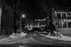 Tychy (nightmareck) Tags: tychy śląskie górnyśląsk silesia polska poland europa europe fotografianocna bezstatywu night handheld fujifilm fuji fujixe1 fujifilmxe1 xe1 apsc xtrans xmount mirrorless bezlusterkowiec xf18mm xf18mmf20r fujinon pancakelens winter zima bw blackandwhite czarnobiały monochrome blackwhite