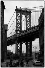DUMBO Photoshoot - Brooklyn, NY (gastwa) Tags: nikon df 58mm f14 g afs prime lens street urban brooklyn nyc new york newyork dumbo black white blackandwhite bw monochrome scenery landscape structure bridges travel full frame fullframe fx andrew gastwirth andrewgastwirth