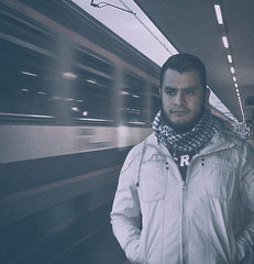 (benriquevs) Tags: train lightroom cold trainstation photoshop photomanipulartion