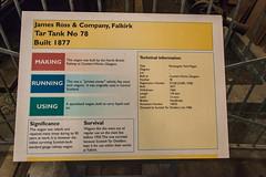 Bo'ness Museum of Scottish Railways - Tar Tank No 78 Information (Le Monde1) Tags: boness kinneil railway steam lemonde1 nikon d800e museum heritage uk scotland unitedkingdom bonesskinneilrailway museumofscottishrailways tar tank jamesross information