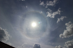 Sun Halo (sjb_astro) Tags: sun sunhalo weather solar bluesky clouds opticalphenomenon stokesley northyorkshire