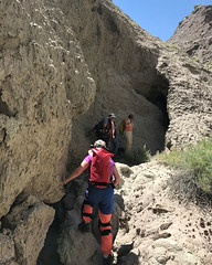 014 Entrance To Majestic Canyon Cave (saschmitz_earthlink_net) Tags: 2017 newmexico sanjuancounty angelpeakscenicarea kutzcanyon badlands mudstone cave entrance majesticcanyoncave