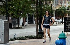 Athlete (burnt dirt) Tags: houston texas downtown city town street sidewalk crosswalk girl woman man couple crowd group people person asian latina blonde brunette cute sexy pretty beautiful gorgeous smile laugh jeans dress skirt shorts yogapants tights leggings heels stilettos boots longhair shorthair ponytail shadow sunny reflection stockings friend athlete exercise dog bike bicycle pregnant glasses sunglasses construction traffic lunch office building worker streetphotography fujifilm xt1 color tattoo model young metro bus busstop train trainstop
