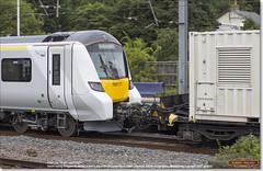 Brand new 700117 being dragged south through Huntingdon by 66751 as 6X70, July 26th 2017 b (Bristol RE) Tags: 700117 6x70 45201 huntingdon thameslink 700 class700