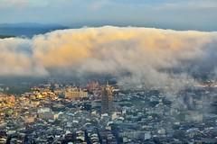 虎頭山~雲浪來襲埔里101~ The cloud waves is coming (Shang-fu Dai) Tags: 台灣 taiwan nikon d800e 南投 埔里 虎頭山 雲浪 雲 clouds 飄渺 misty formosa 埔里101