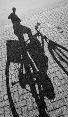 Distorted bike (Peter Branger) Tags: activeassignmentweekly shadow shadows bicycle blackwhite bestofweek1 bestofweek2 bestofweek3