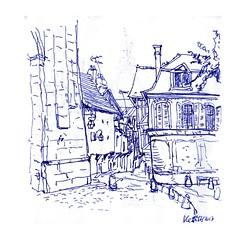 Troyes (DirkLefebvre) Tags: steegjes vakantieschetsjes schets