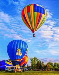 Up And Away (Wes Iversen) Tags: balloonsoverbavarianinn frankenmuth hss michigan nikkor18300mm sliderssunday digitalart hotairballoons painterly people
