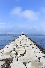 Spring Point Ledge Lighthouse, Maine (sheldonannphotography) Tags: spring point ledge lighthouse head light lighthouses sail sailboat water ocean rocks fort sky clouds blue sea shore beach coast south portland maine seascape landscape nature boat fog