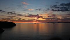 St Brides Bay Sunset (Andy.Gocher) Tags: andygocher canon100d sigma18250 europe uk wales westwales southwales pembrokeshire littlehaven coast coastalpath coastline sunset sun clouds cloudscape sky skyscape water sea seascape
