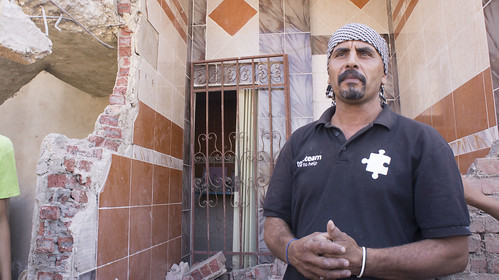Abu Belal and the remains of his house