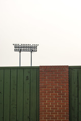 Ballpark (Mister Day) Tags: minimal baseball park wall bricks telusfield lights sports minimalist simple unlcuttered less is more