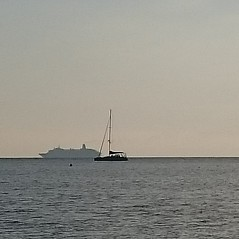 Silhouettes Layers and Boats at Sunset Sea Tall Ship Sailboat Horizon Over Water Sailing Ship Water No People Liguria (Ciccio Pizzettaro) Tags: silhouettes layers boats sunset sea tallship sailboat horizonoverwater sailingship water nopeople liguria