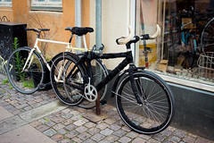 bullcycle (sabrandt) Tags: bicycle copenhagen denmark europe scandinavia travel bike cycling bullhorns clever bullbike fuzzybike fixie fixedgear singlespeed