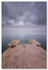 Like a spanner (João Cruz Santos) Tags: seascape waterscape longexposure pier clouds tagusriver tagus fotodiox wonderpana sigma1224 nd1000 10stops