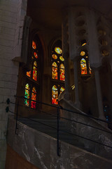 Sagrada Família (Maya Lucchitta) Tags: antonigaudí barcelona basílicaitempleexpiatoridelasagradafamília españa gaudi gaudí sagradafamilia sagradafamília spain stainedglass staircase stairs