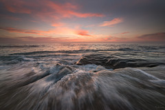 *** (shi-raz) Tags: lajolal la jolla lajolla california windandsea seascape clouds waves crashing sunset sky color flaming san diego pacific socal