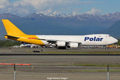 Polar Air Cargo / Boeing 747-87UF / N857GT taxiing for departure from Ted Stevens Anchorage International Airport, Alaska. (Angel Moreno Photography) Tags: polaraircargo boeing74787uf n857gt taxiing departure tedstevensanchorageinternationalairport alaska airplane plane aircraft planespotter boeing748 boeing b748