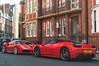 Choices (Beyond Speed) Tags: ferrari 458 italia 488 gtb supercar supercars car cars carspotting nikon v8 red automotive automobili auto london knightsbridge combo