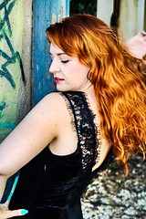 (victoriamenorbalmori) Tags: redhair hair pelo melena black negro dreamcametrue dream soñar dibujo mérida brave rojo red pelirroja