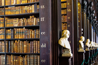 Ireland - Dublin - Trinity College - Old Library - Long Room