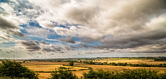Lost in a landscape (Peter Leigh50) Tags: braybrooke landscape panorama countryside farmland field hedge hill pylon clouds cloudscape sky skyscape meridian east midland trains emt train railway