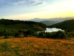 (bogdanurs) Tags: sunset mountain lake water hilly hill carpathians rosiamontana rosia alba saturation green romania nature