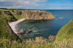 Old Hall Bay and Dunottar Castle (ianrwmccracken) Tags: ancient rock building medieval dunnottar shore scotland blue beach fortress aberdeenshire green oldhallbay fortification landscape nikond750 seascape castle coast nikkor1635mmf4 shell ianmccracken