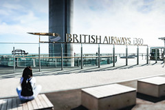 England 2017 - Brighton (Exyt) Tags: england britain ocean coast channel atlantic landscape sea tower panoramic britishairways360 city town brighton tiltshift maquette observation buildings streets beach people toy summer holidays