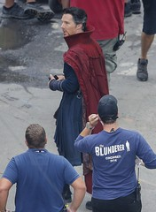 UHQ Avengers: Infinity War Set Pictures (anythingdoctorstrange) Tags: avengers infinity war atlanta usa 28 jun 2017 cast member benedict cumberbatch red cape walks set during filming is modeled after a new york city street celebrity entertainment arts united states north america georgia actor male personality 60706190 benedictcumberbatch markruffalo avengersinfinitywar robert downey jr